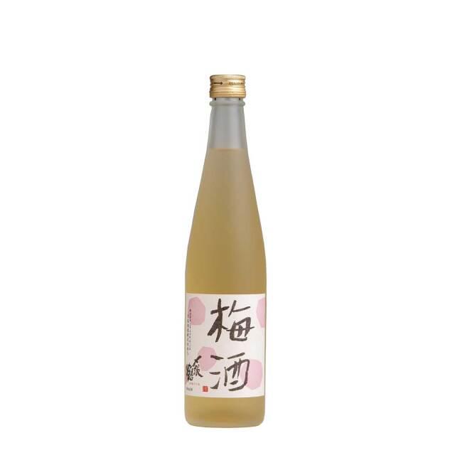 N28:宮尾酒造 〆張鶴 梅酒 500ml クリアケース入り