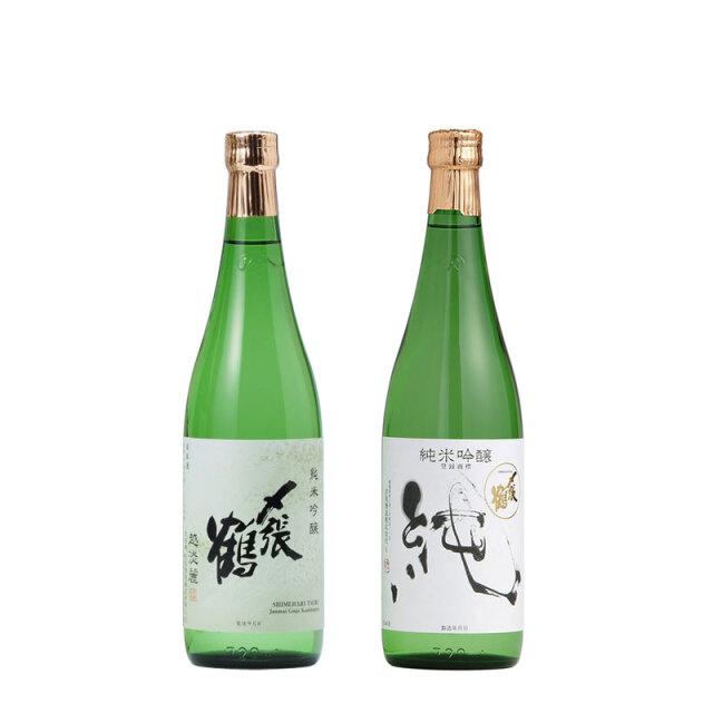 〆張鶴 純米吟醸 越淡麗・純 720ml×2