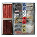 W-18:塩引鮭・寒風干し・魚漬・魚卵詰合せ