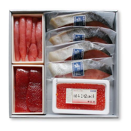 夏ギフト: 塩引鮭・魚卵詰合せ