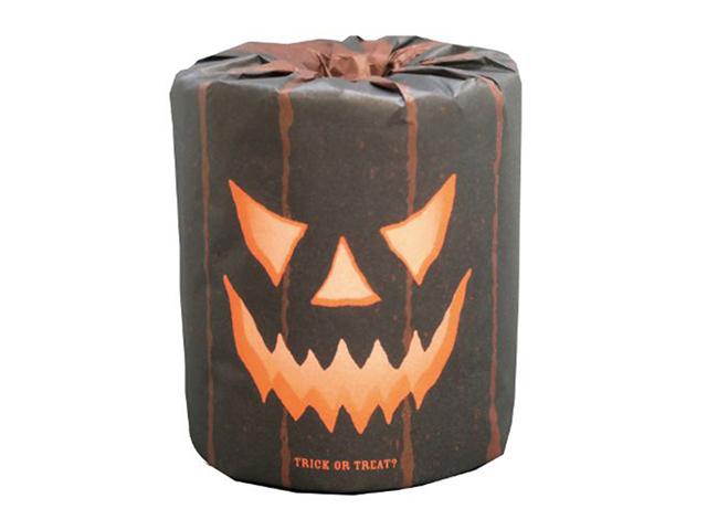 販促用トイレットペーパー ハロウィン黒おばけ 個包装100個 ダブル30m