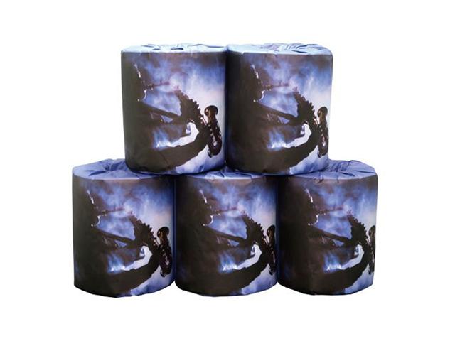 販促用トイレットペーパー 音楽 サックス 個包装100個 ダブル30m