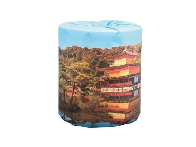 販促用トイレットペーパー 日本の世界遺産 金閣寺 個包装50個 ダブル30m