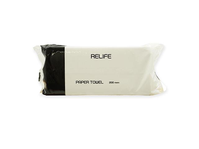 RELIFE ペーパータオル 中判サイズ 再生紙 200枚X35パック