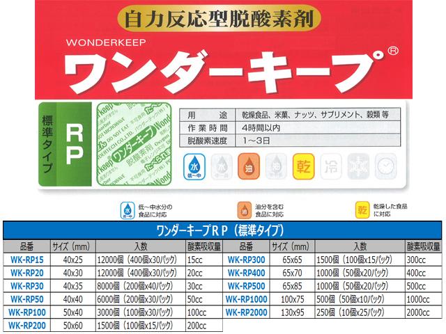 脱酸素剤ワンダーキープWK-RP