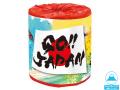 【送料無料】販促用 贈答用 イベント用 トイレットペーパー【林製紙 GO!JAPAN】30Mダブル 個包装50個
