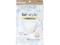 3層不織布マスク ビースタイル 立体タイプ 女性用ふつうサイズ プレミアムホワイト 5枚入りX10パック