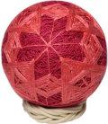 紬の手まり(8cm)・紅の花