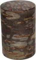 桜皮総皮作り茶筒(大)チラシ(桐箱入り)