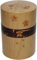 桜とひばの茶筒(大)
