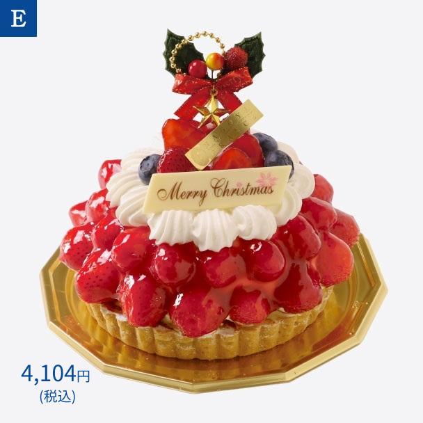 名古屋ふらんすのクリスマスケーキ E.苺とラズベリーのドゥーブルフリュイ