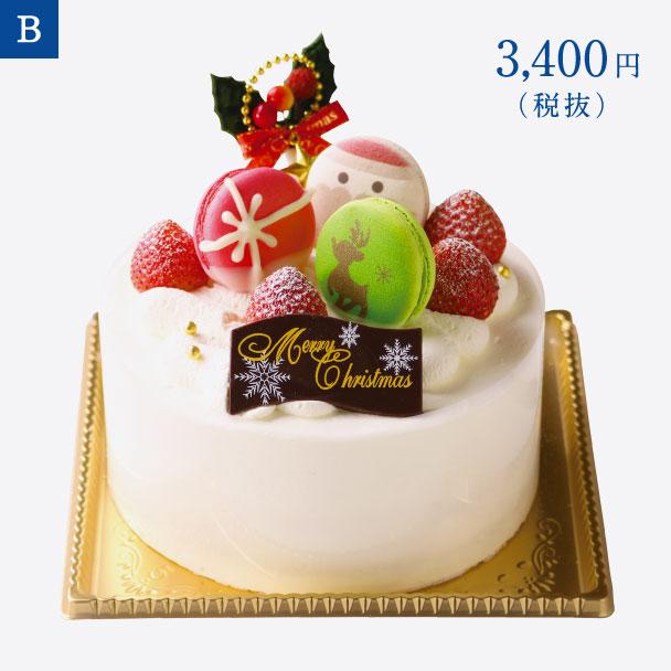 名古屋ふらんすのクリスマスケーキ B. クリスマスショートケーキ 5号