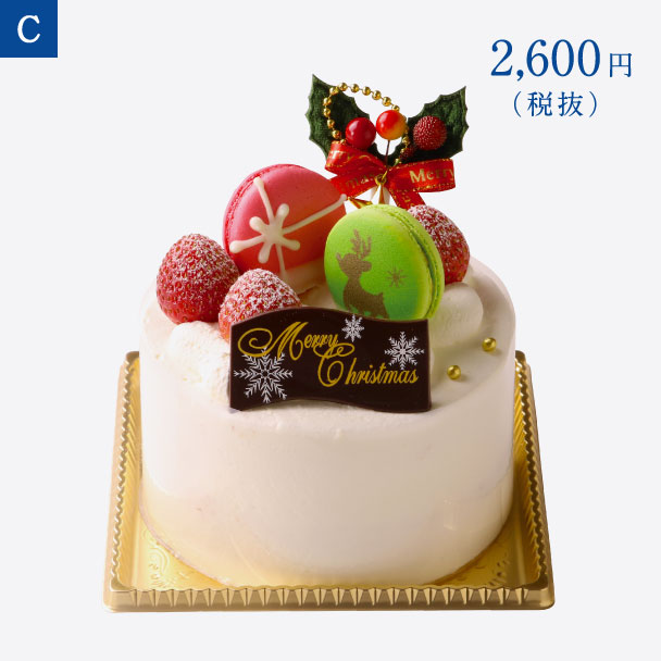 名古屋ふらんすのクリスマスケーキ C.クリスマスショートケーキ 4号