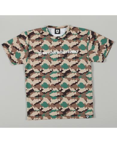 ランカーカモ メッシュTシャツ・ウッドランドカモ(バスブリゲード)