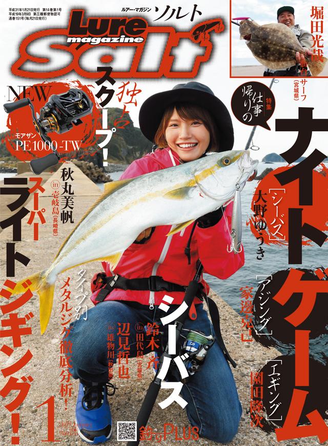 ルアーマガジン・ソルト 2019年1月号(11/21発売)