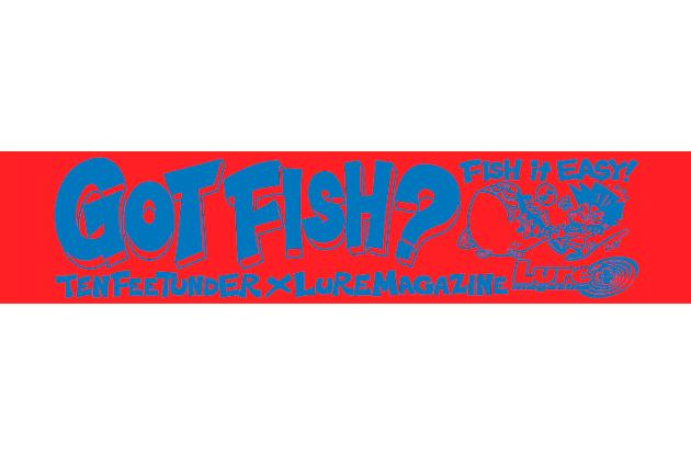 「FISH it EASY!」マフラータオル/レッド