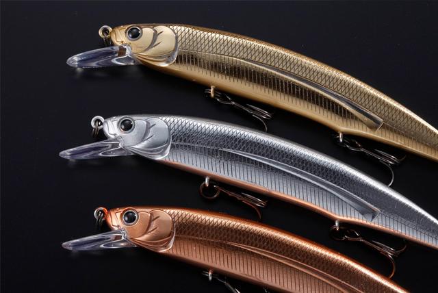 HUミノー111SP(ハイドアップ)金・銀・銅3色セット