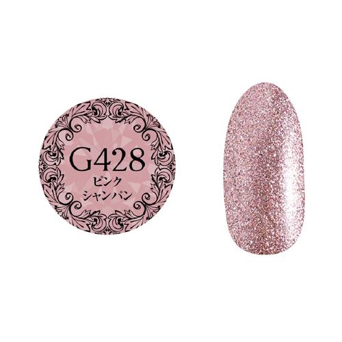 【PREGELプリムドールミューズ】 【グリッター】 4g PDM-G428 ピンクシャンパン