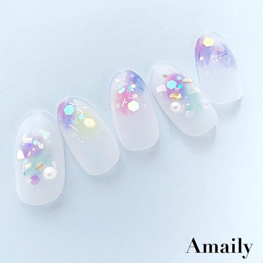 【Amaily】 ネイルシール No.5-28  水彩