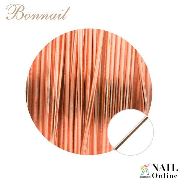 【Bonnail】 カラーワイヤー ライトゴールド 10m