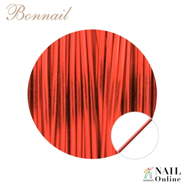 【Bonnail】 カラーワイヤー レッド 10m