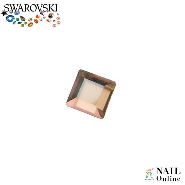 【SWAROVSKI】 #2400 スクエア型 クリスタルゴールデンシャドウ 3mm 24P