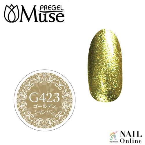 【PREGELプリムドールミューズ】 【グリッター】 4g PDM-G423 ゴールデンシャンパン