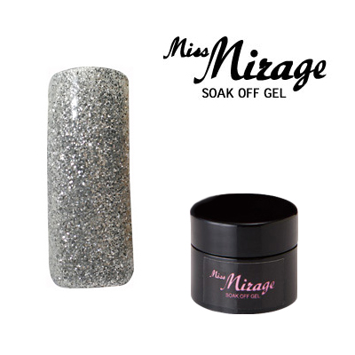 【MissMirage】 D01S ディメンション シルバー (グリッター) 2.5g