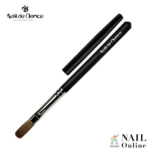 【Nail de Dance】 スカルプチュアブラシ Flat ブラック (キャップ付)