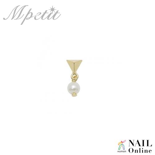 【Mpetit】 A222 スイングパーツシリーズ Pearl ゴールド×パール 1P 6×15mm