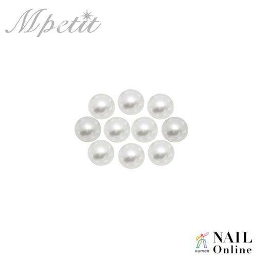 【Mpetit】 B404 プレミアムパール ラウンド ホワイト 10P  3mm