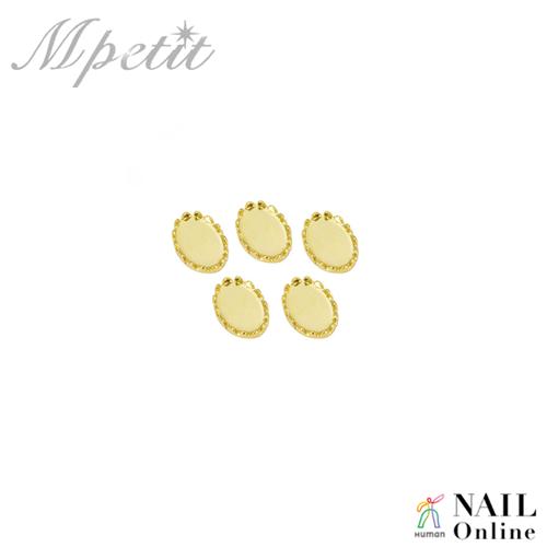 【Mpetit】 B124 ストーンディッシュ オーバル ゴールド  5P  3×5mm