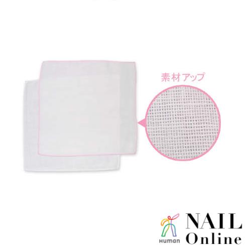 ワイズ ミニガーゼハンカチ 2P(ピンク/ホワイト)