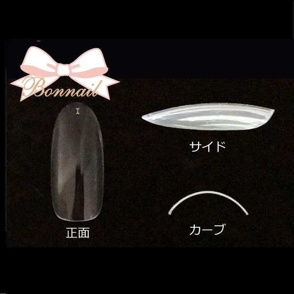 【Bonnail】 サンプルチップセット クリアラウンドロングチップ R300 #1 50P