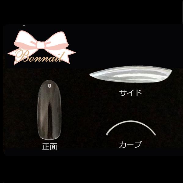 【Bonnail】 サンプルチップセット クリアラウンドロングチップ R300 #6 50P