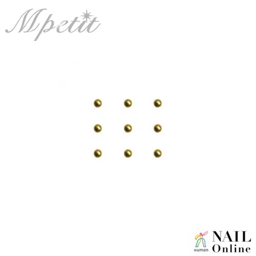 【Mpetit】 B054 プレミアムスタッズ ゴールド 1mm 100個入り