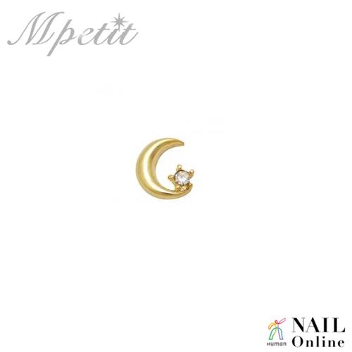 【Mpetit】 A260 プリティムーン ゴールド×クリスタル 1P  5-6mm