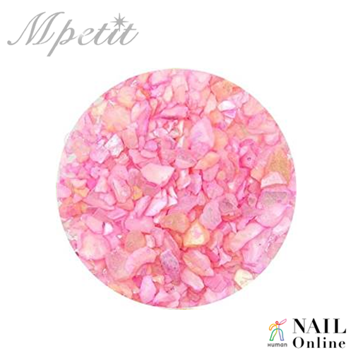 【Mpetit】 B078 クラッシュシェル(天然シェル) ピンク