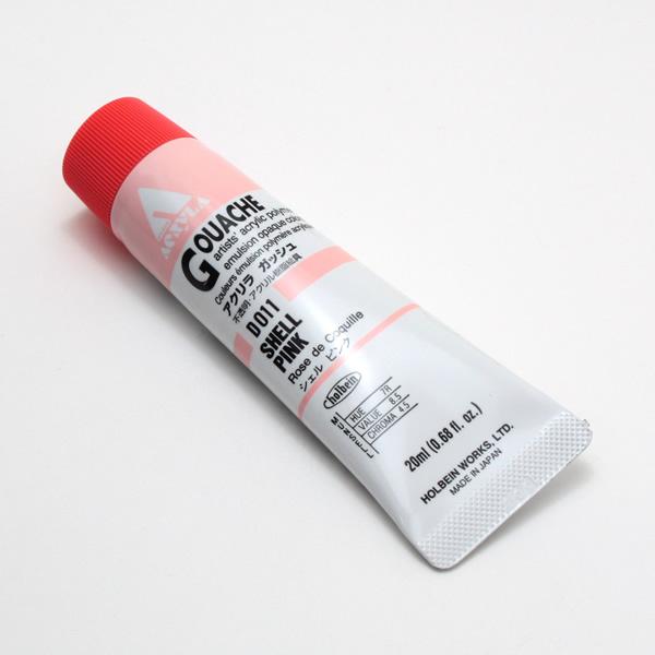 【holbein】 アクリラガッシュ D011 20ml シェルピンク