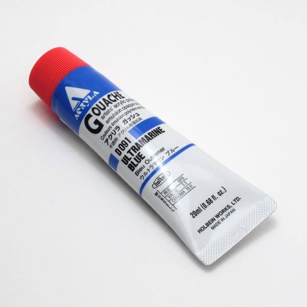【holbein】 アクリラガッシュ D091 20ml ウルトラマリンブルー
