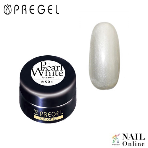 【PREGEL】 【パール】 4g  カラーEX  PG-CE504  パールホワイト