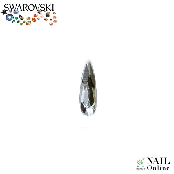 【SWAROVSKI】 #2304 レインドロップ クリスタル 6×1.7mm 9P