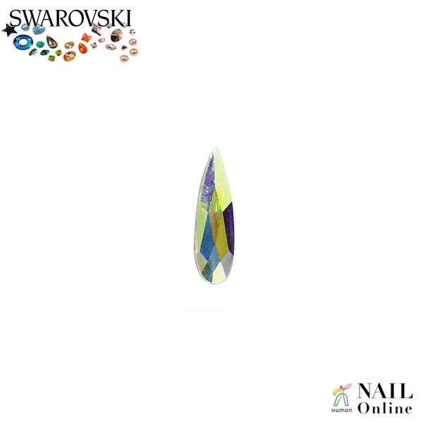 【SWAROVSKI】 #2304 レインドロップ オーロラ 6×1.7mm 9P