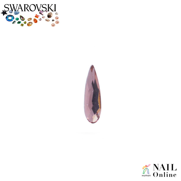 【SWAROVSKI】 #2304 レインドロップ ブラッシュローズ 6×1.7mm 9P