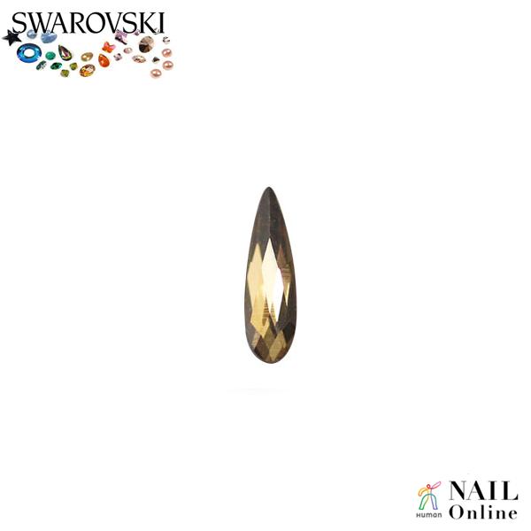 【SWAROVSKI】 #2304 レインドロップ クリスタルゴールデンシャドウ 6×1.7mm 9P