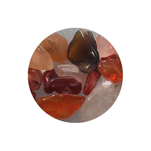 Pieadra ネイルパーツ 天然石 カーネリアン 20P