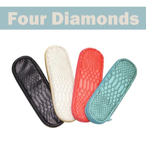 【FourDiamonds】  ニッパーケース  スネークターコイズ