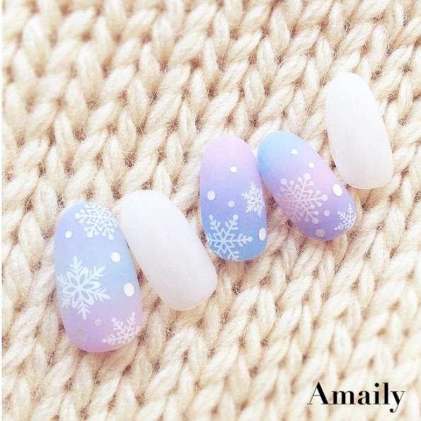 【Amaily】 ネイルシール No.3-15 雪の結晶 白