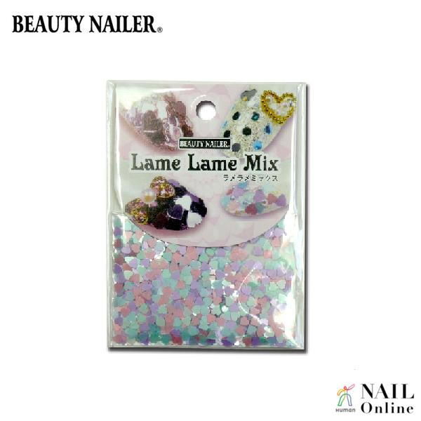 【BEAUTY NAILER】 ラメラメミックス LLM-1 パステルハート 4色ミックス入り