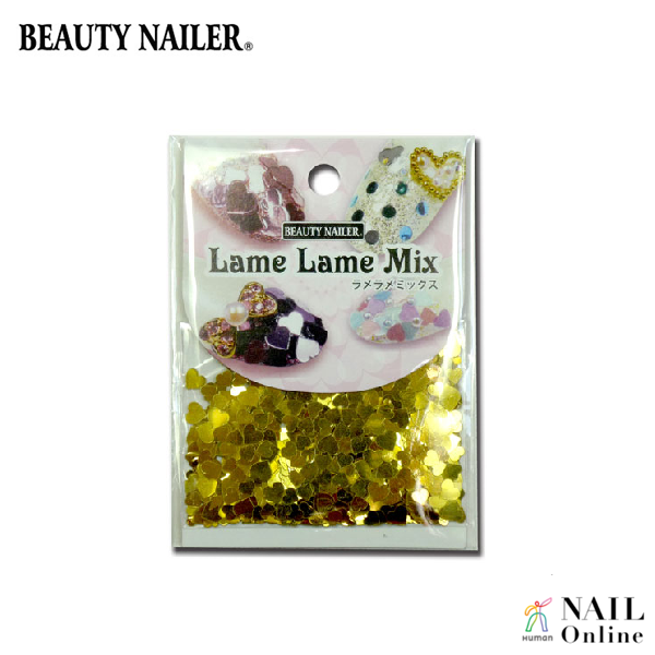【BEAUTY NAILER】 ラメラメミックス LLM-2 ゴールドハート